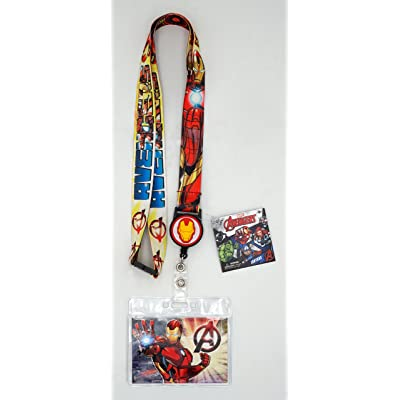 Marvel 68846 Iron Man Lanyard with Zip Lock Card Holder, Multi Color: Toys & Games