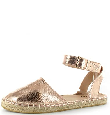 965bbb4a9f13 Womens Ladies Glitter Espadrilles Flat Ankle Strap Shoes Sandals UK Sizes  3-9 (UK9