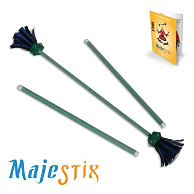 Green Majestix Juggling Sticks Devil Sticks: Toys & Games
