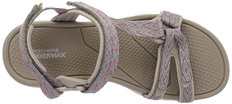Skechers Riemchensandalette Go Walk Outdoors Runyo Größe 39, Farbe: Taupe/kompi