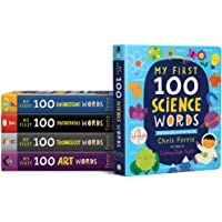 My First 100 STEAM Words Book Set from Baby University: Introduce Babies and Toddlers to Science, Technology…