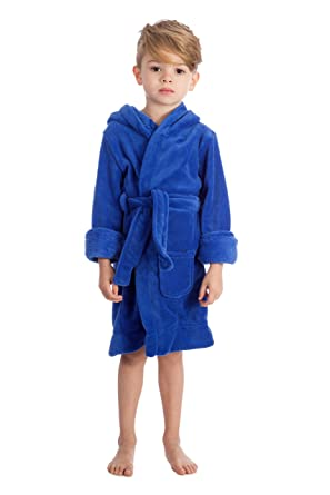 d1f7c1dcc8 elowel Boys Girls Hooded Childrens Sleep Robe (Size 2 Toddler -14Y)   Amazon.co.uk  Clothing