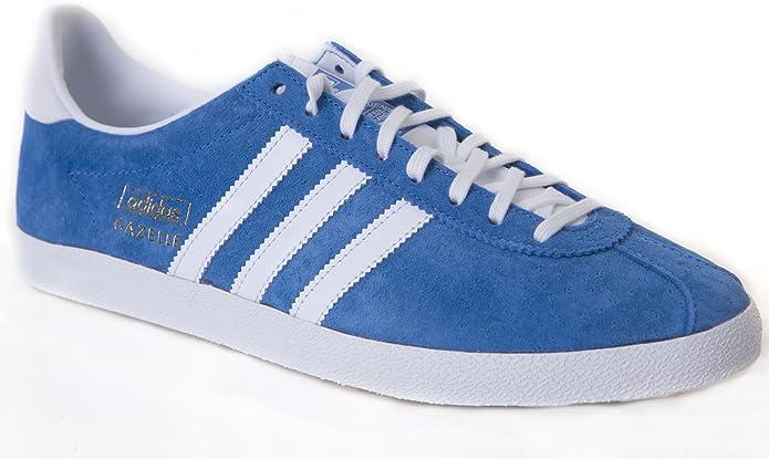 adidas Gazelle OG Blue/White Trainers G16183 for Men: Amazon.co.uk ...