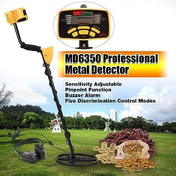 LasVogos Detector de Metales de Mano MD6350 Metro de la Caza del Tesoro Buscador de Oro: Amazon.es: Deportes y aire libre