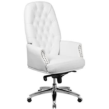 Amazon Com Flash Furniture High Back Traditional Tufted White