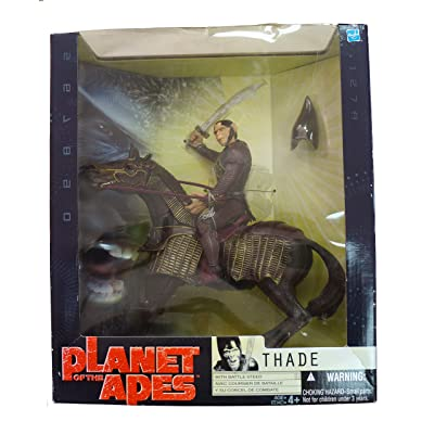 Planet of the Apes Thade with Battle Steed Action Figure: Toys & Games