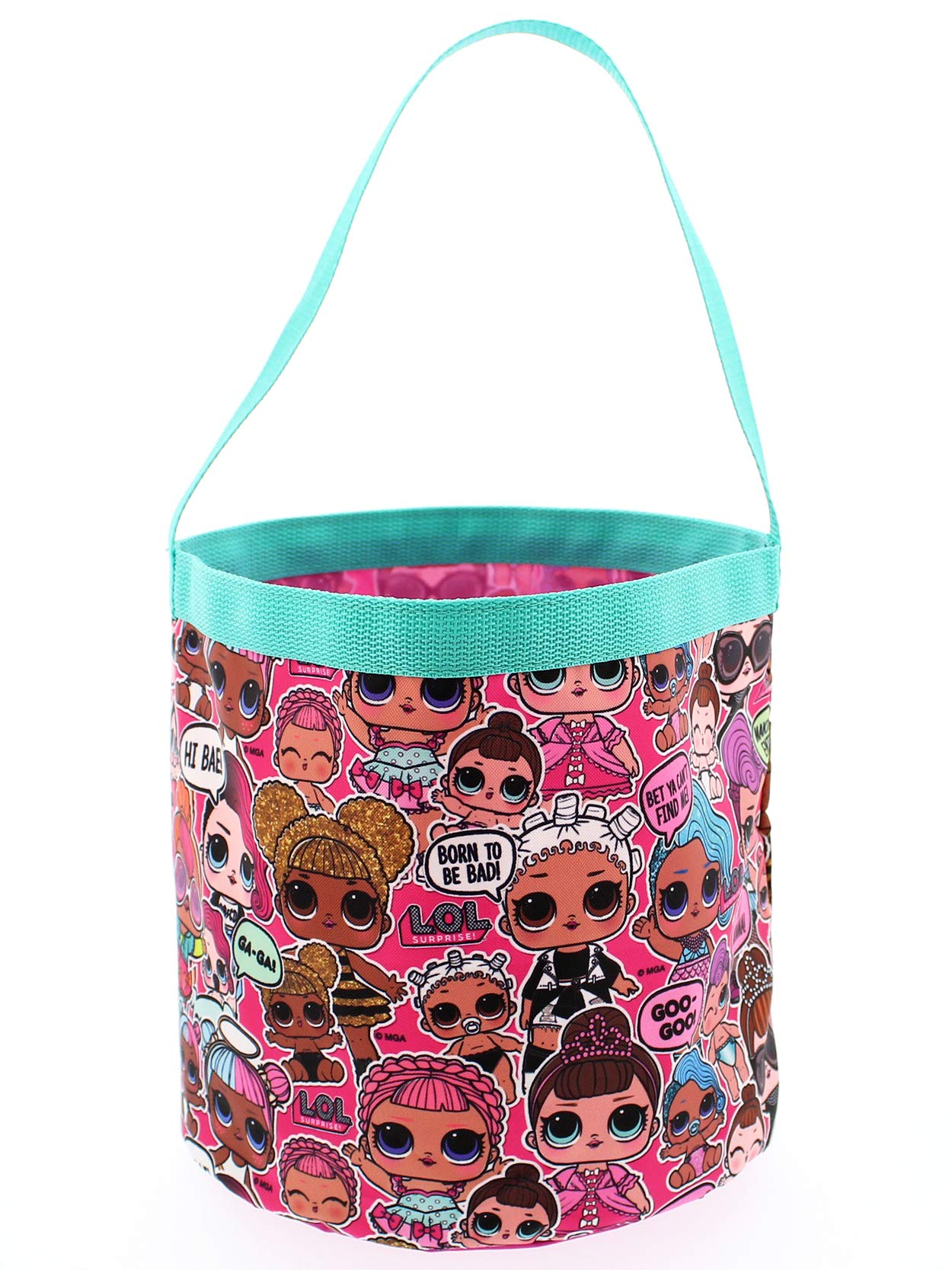 L.O.L. Surprise! Girls Collapsible Nylon Beach Bucket Toy Storage Gift Tote Bag (One Size, Pink) by L.O.L. Surprise! (Image #2)