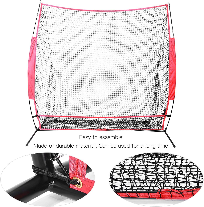interni supporto per addestramento rete da baseball portatile con rete frontale staccabile sport allaperto rete da baseball da 2,1 m Wakects