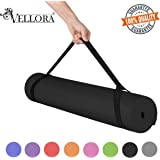 VELLORA Yoga Mat Anti Skid Yogamat for Gym Workout and Flooring Exercise - Long Size Yoga Mate for Men Women