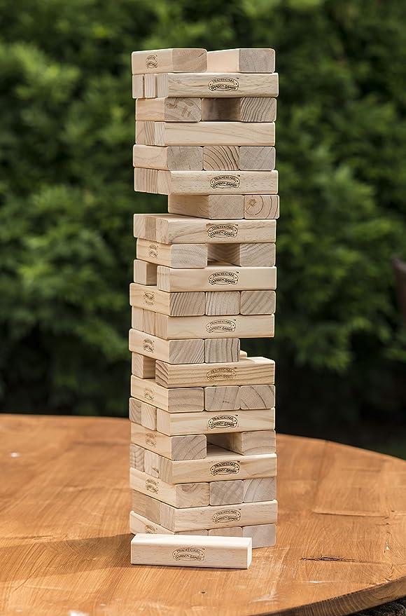 Traditional Garden Games. Torre gigante de bloques de madera para el jardín: Traditional Garden Games Garden Tumbling Tower: Amazon.es: Juguetes y juegos
