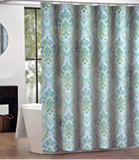 Amazon.com: CARO Home Fabric Shower Curtain Wide Navy Blue White ...