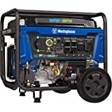 Westinghouse WGen9500DF Dual Fuel Portable Generator-9500 Rated 12500 Peak Watts Gas or Propane Powered-Electric Start-Transf