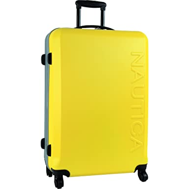 b18a6aa9cd6d Nautica Hardside Spinner Wheels Luggage - 28 Inch Expandable Extra Large  Travel Suitcase Rolling Bag with Hard Case