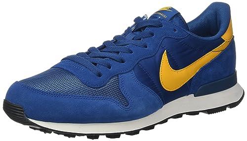 Nike Internationalist, Zapatillas de Running para Hombre, Azul (Court DELF Sole-Tiefes Marine-Blau), 45.5 EU: Amazon.es: Zapatos y complementos
