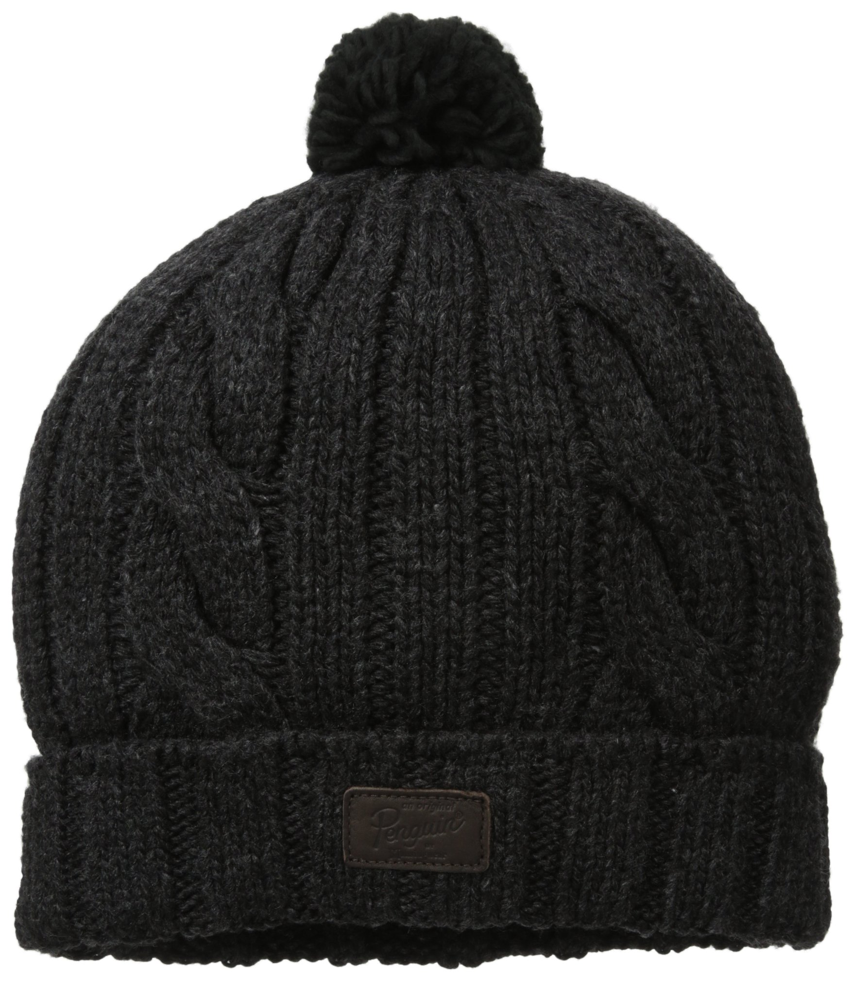 Original Penguin Men's Albert Pom Watch Cap, Black, One Size