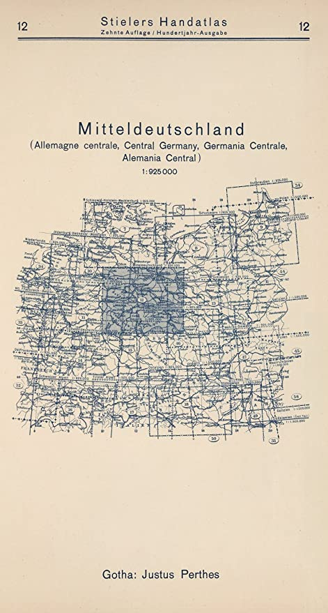 Central Germany Map.Amazon Com Historic Pictoric 1925 World Atlas Index Map 12
