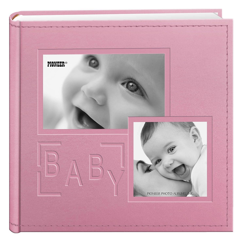 公式の店舗 Pioneer Pink 6-Inch Photo Baby Albums 200-Pocket Embossed Baby Leatherette Frame Cover Album for 4 by 6-Inch Prints, Pink by Pioneer Photo Albums B00MN6IGMI, SCRIPT:0f9eeae0 --- narvafouette.eu