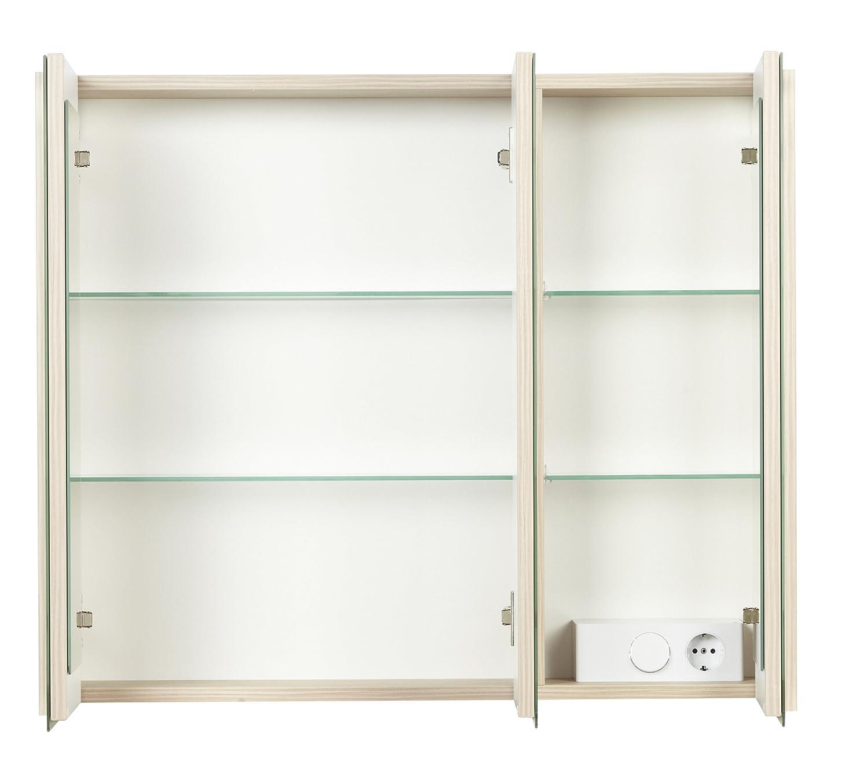 Fackelmann Spiegelschrank, Holz, Pinie, 16 x 79,5 x 67 cm: Amazon.de ...