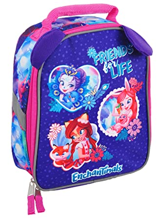 Amazon.com: Enchantimals Dolls Lunch Box Soft Kit Insulated Cooler Bag Friends For Life: Kitchen & Dining