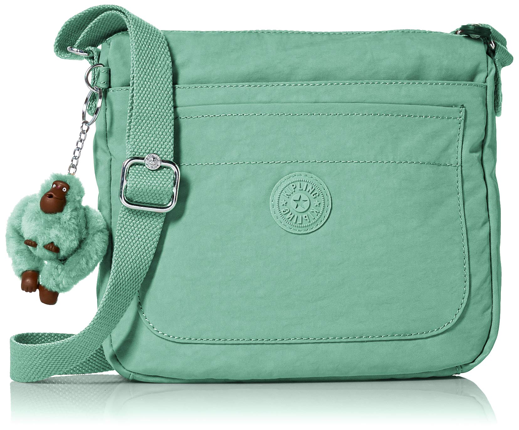Kipling Women's Sebastian Bag, Adjustable Crossbody Strap, Top Zip Closure, Fern Green Tonal
