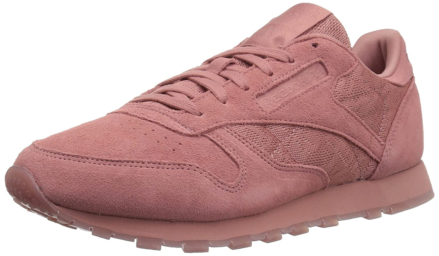 Reebok Women's Cl Lthr Lace Sneaker B074V1JDQY 6.5 B(M) US|Sandy Rose/White