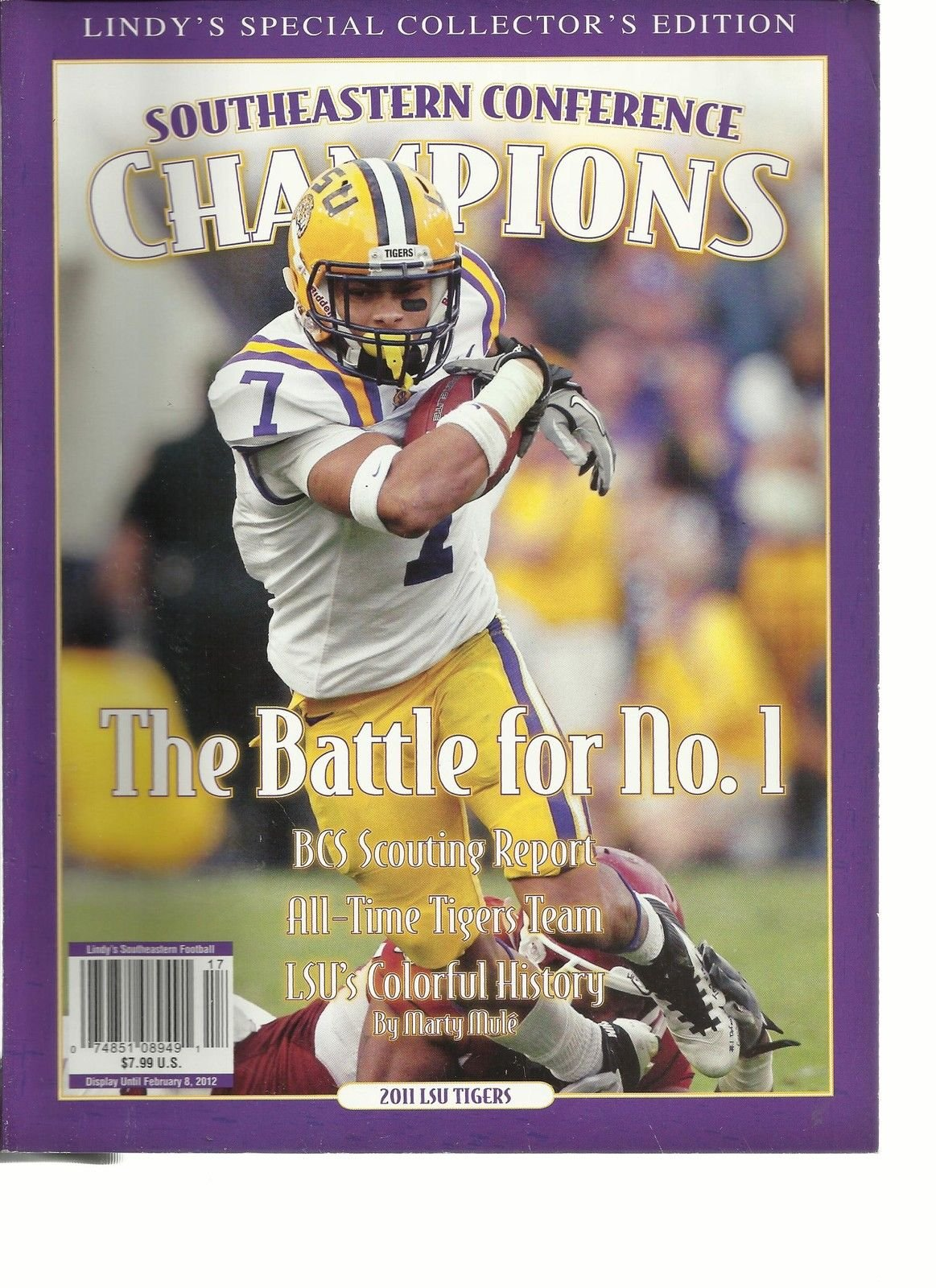 SOUTHEASTERN CONFERENCE CHAMPIONS, LINDY'S SPECIAL COLLECTOR'S EDITION