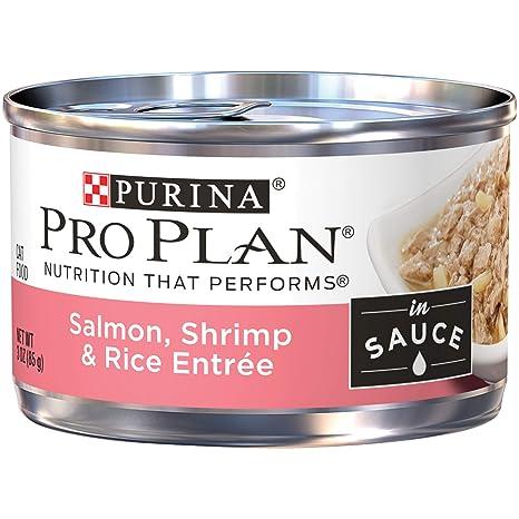 Purina Pro Plan - Bolsa de comida para gatos mojada, camarón ...