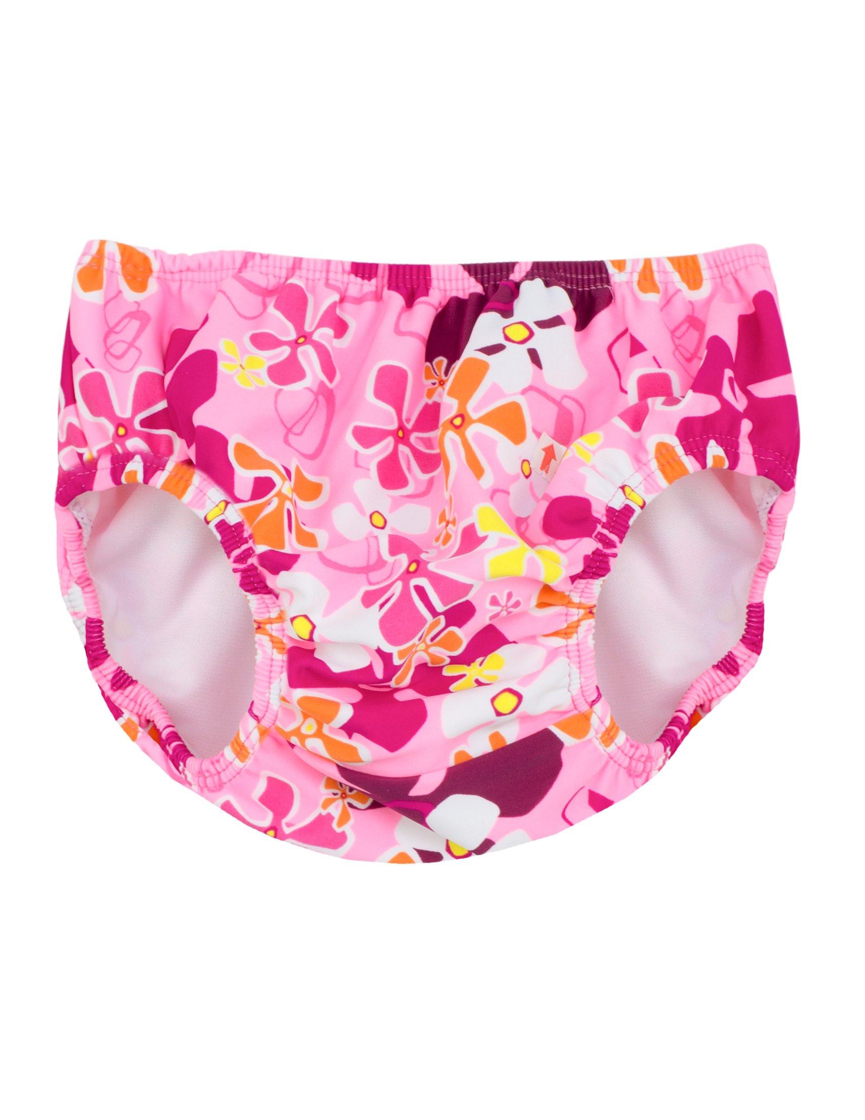 Tuga Girls Reusable Swim Diaper, Misty Pink, M