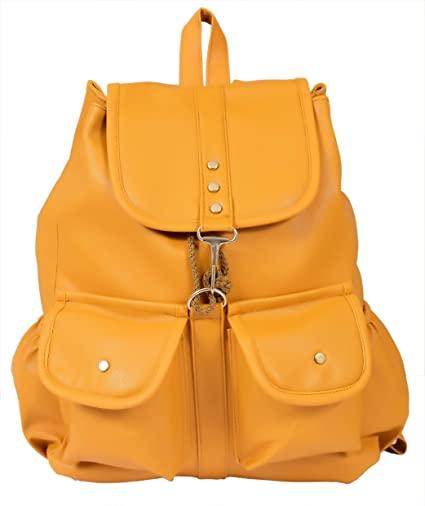 bf67af49b67729 Buy Beets Collection Student Shoulder Backpack for Women & Girls Bag  (Yellow) Online at Low Prices in India - Amazon.in