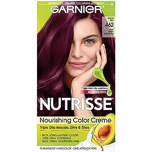 Garnier Nutrisse Nourishing Hair Color Creme, 462 Dark Berry Burgundy (Packaging May Vary)