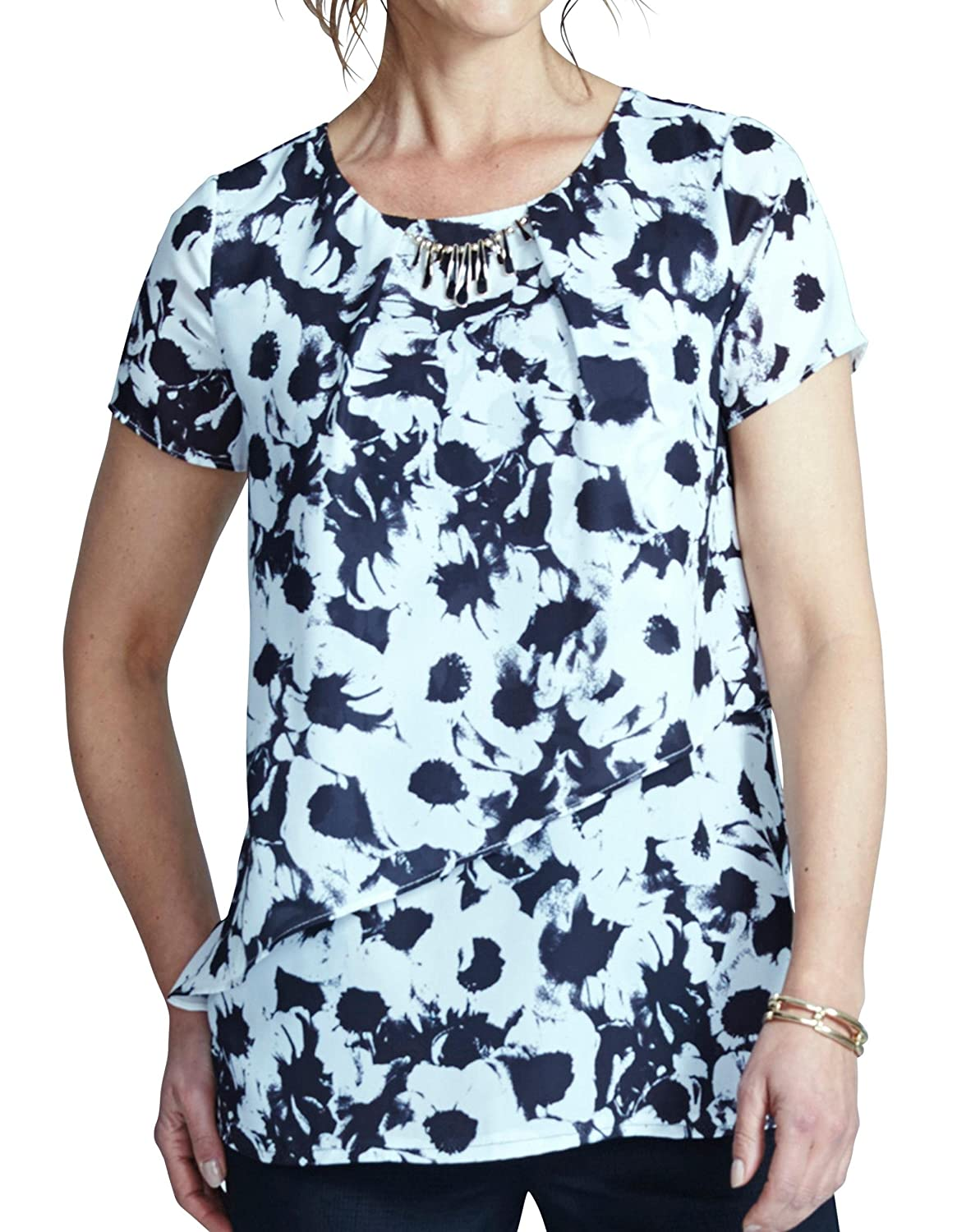 Womens Together Layered Print Top JD Williams