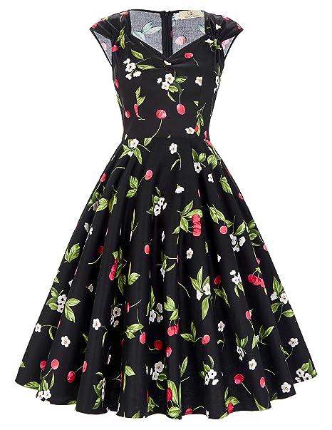 b44d05010c9f GK Vintage Dress - Vestito - Sera - Senza Maniche - Donna Stil 1  Farbe 12  Large  Amazon.it  Abbigliamento