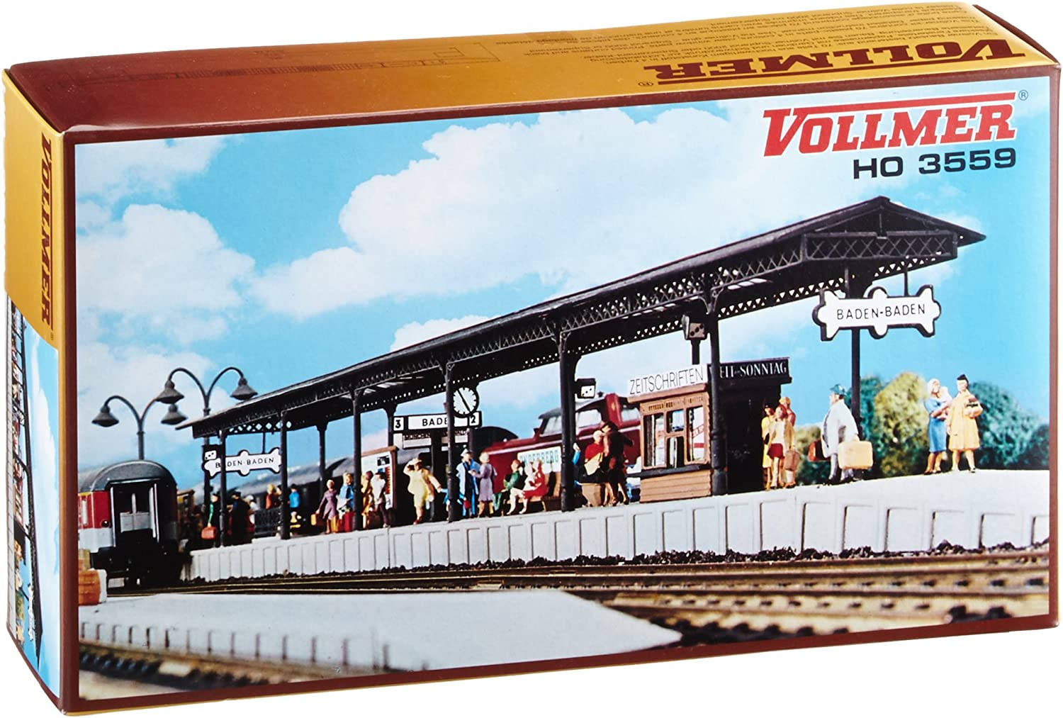 """B0002OHED0 Vollmer 43559 Station Platform w/Cover & Accessories HO Scale Plastic Building Kit 40-1/2 x 1-7/8 x 2-5/8"""" or 102 x 4.8 x 6.6 cm 81WOAzby9tL.SL1500_"""