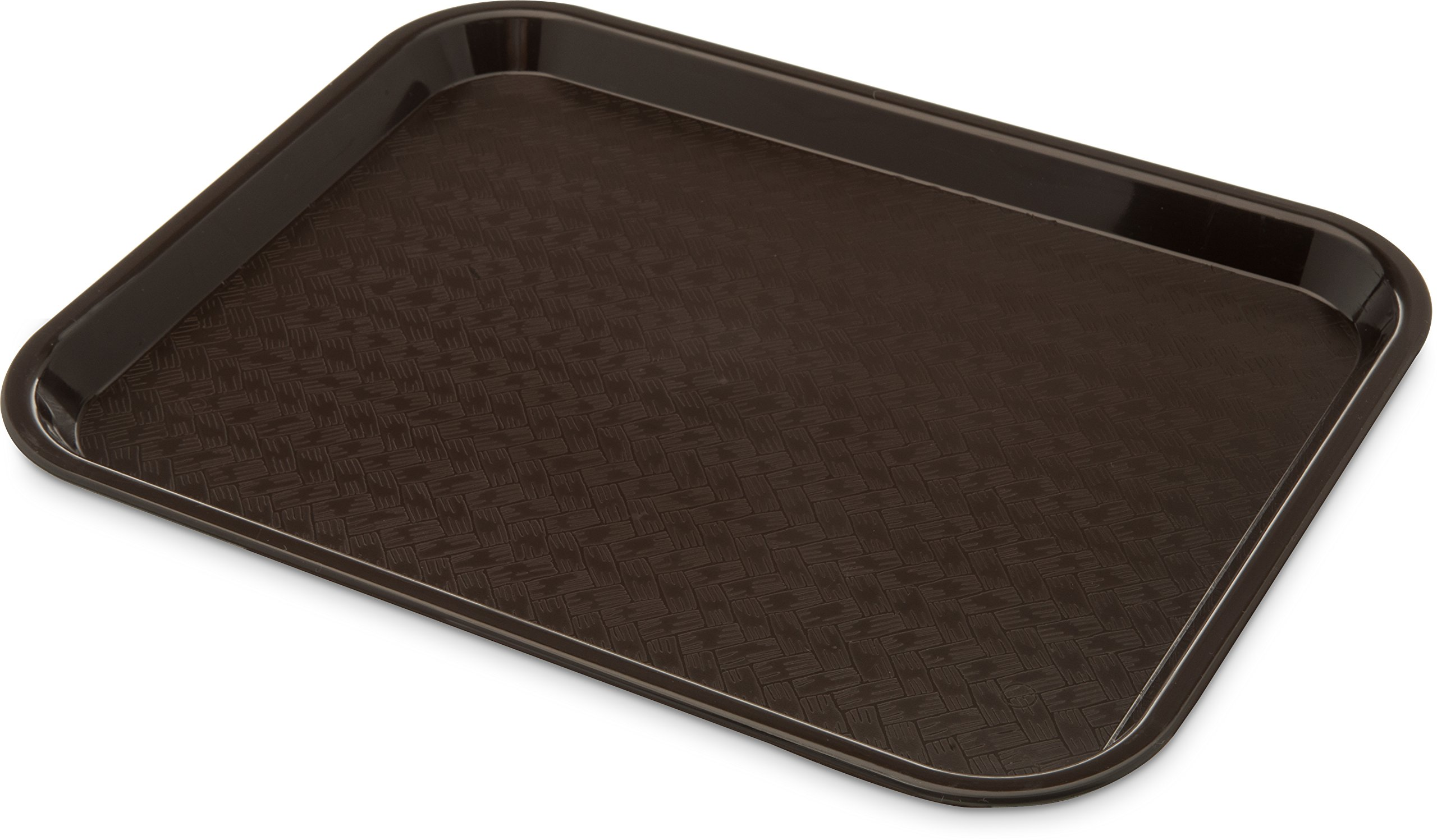 Carlisle CT101469 Café Standard Cafeteria / Fast Food Tray, 10'' x 14'', Dark Brown