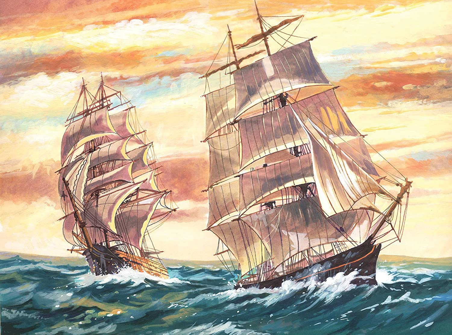 amazon com reeves large acrylic painting by numbers sailing