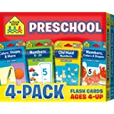 School Zone - Preschool Flash Card 4-Pack, ages 4 - up, kids' games, puzzles, shapes, colors, numbers, readiness skills