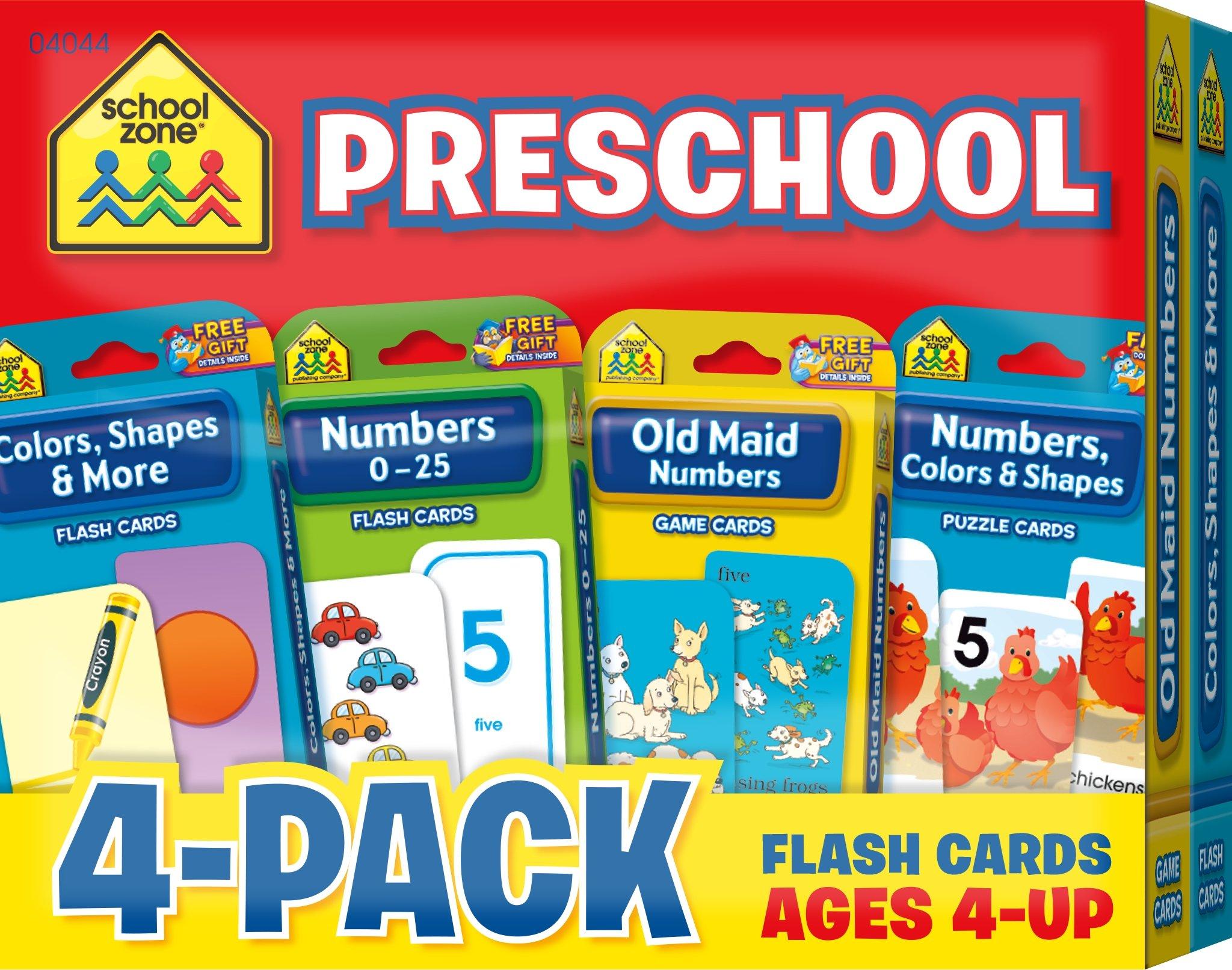 School Zone - Preschool Flash Card 4-Pack, ages 4 - up, kids\' games ...