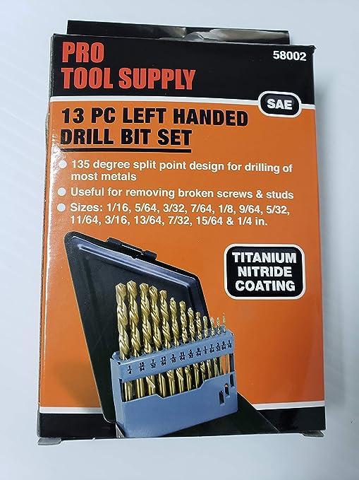 "135 Split Point Tip 7//64/"" Black Oxide Drill Bit M2 High Speed Steel 10 pk"