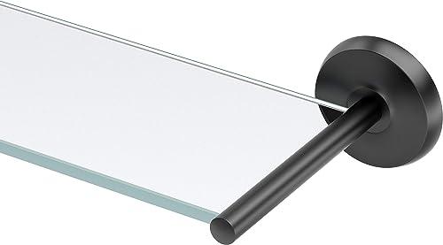 Gatco Desinger II Glass Shelf, Matte Black