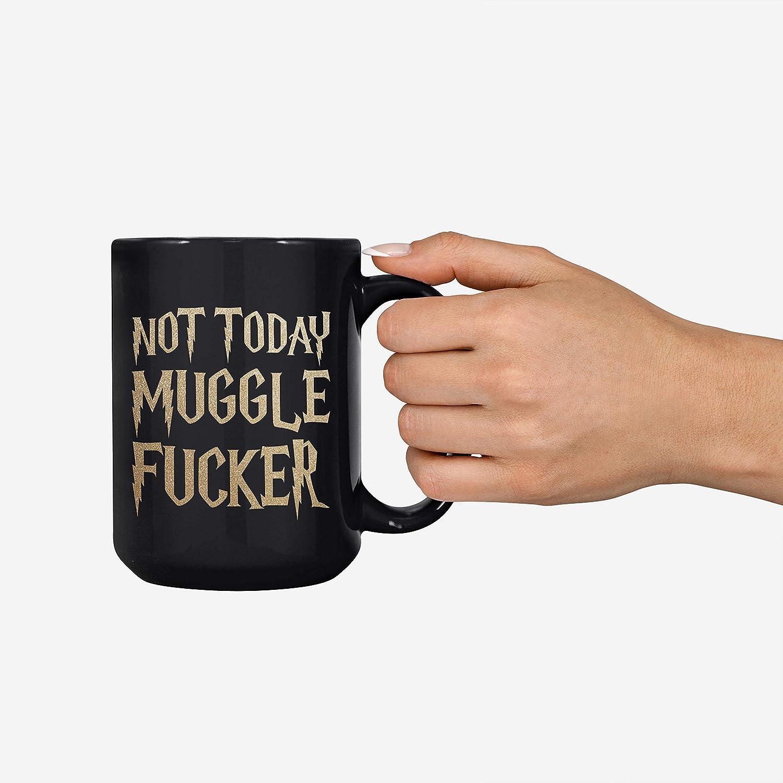 15oz Deluxe Double-Sided Coffee Tea Mug Not Today Fucker