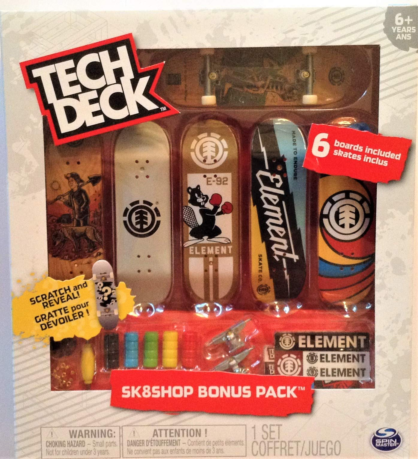 Element Sk8shop Bonus Pack with 6 Fingerboards - 20th Anniversary #20107711