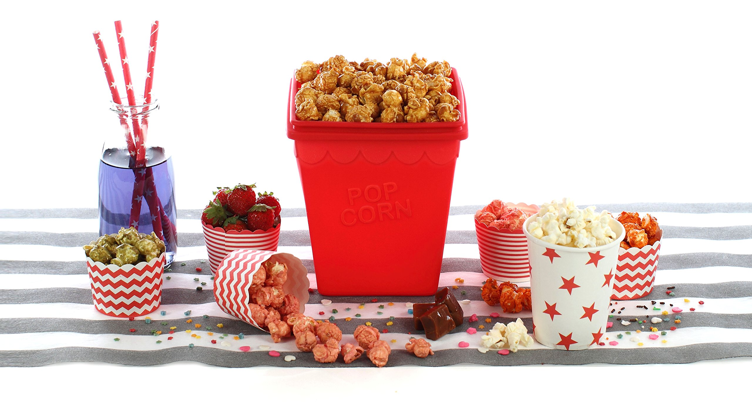 YOKO Design 1270 Popcorn Kit, 25 x 19.5 x 14 cm Red