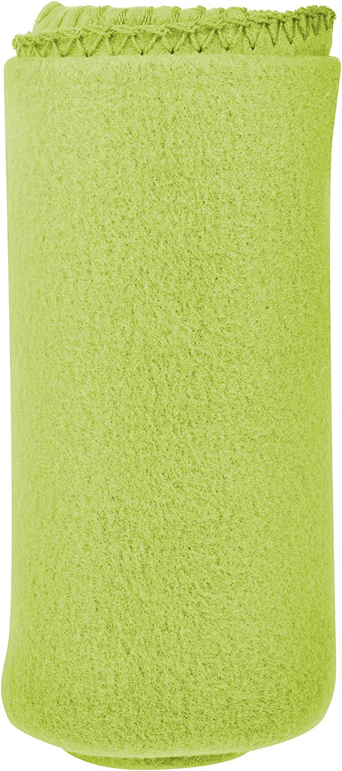 I Love This Value Imperial 50 x 60 Inch Ultra Soft Fleece Throw Blanket - Lime Green