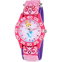 Disney Kids W001193 Cinderella Plastic Printed Stretch Nylon Strap Watch
