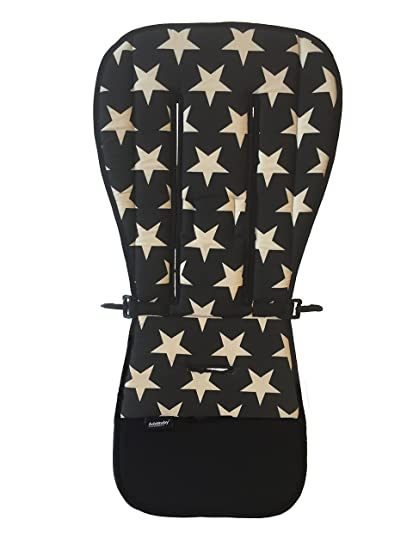 addbaby 106521 Asiento Cojín para el carrito estrellas, color negro