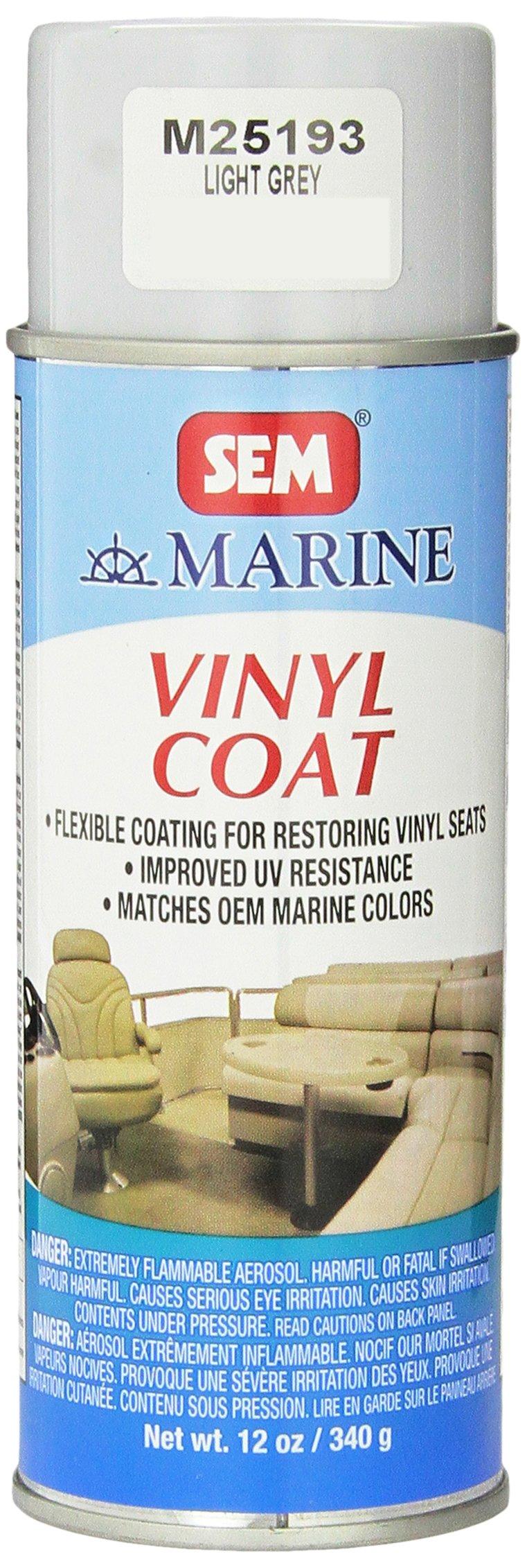 SEM M25193 Light Grey Marine Vinyl Coat - 12 oz.