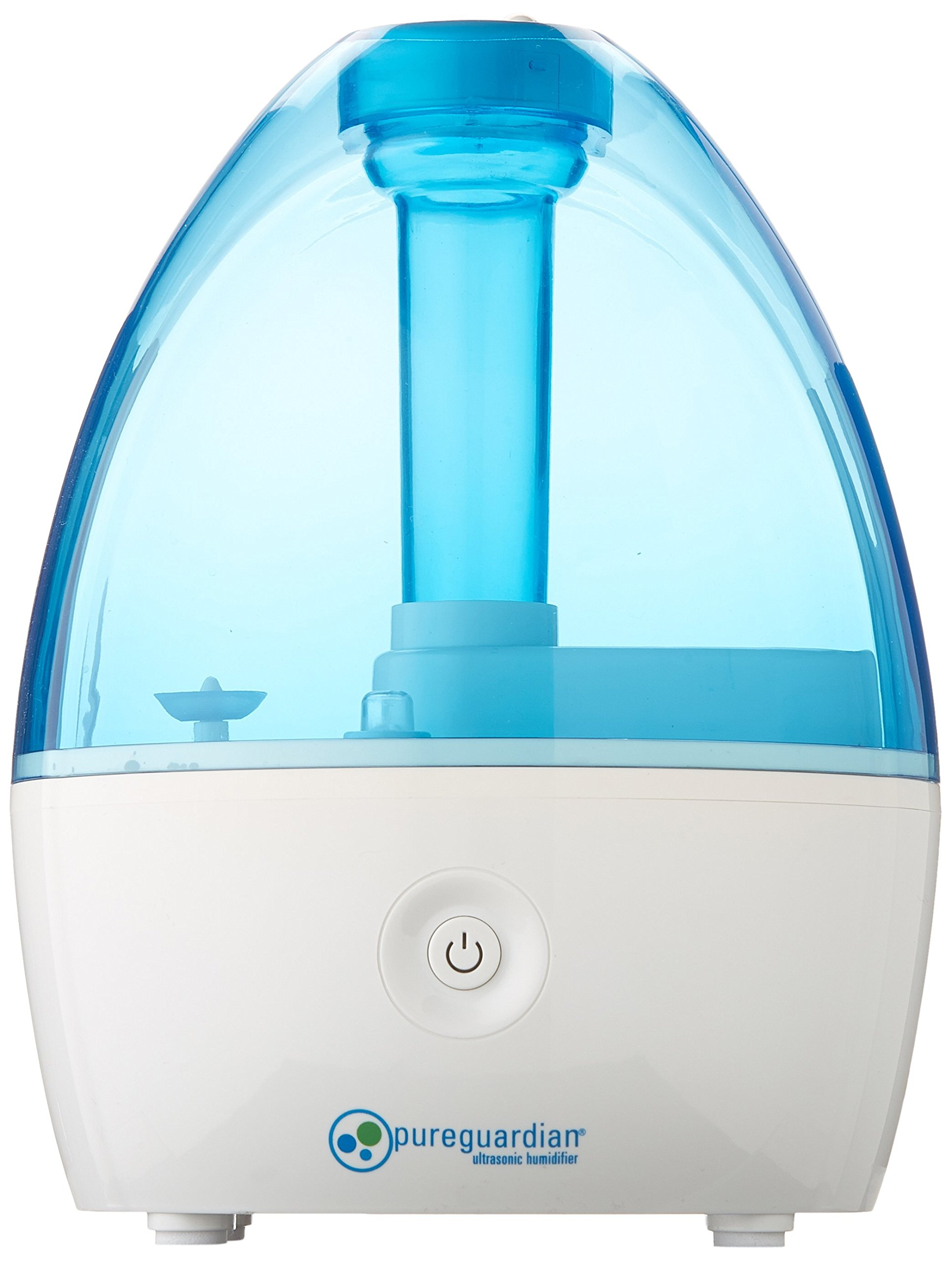 PureGuardian H910BL Ultrasonic Cool Mist Humidifier for Bedrooms, Babies Nursery, Quiet, Filter-Free, Up to 14 Hour Run Time, Treated Tank Surface Resists Mold, Pure Guardian Desktop by Guardian Technologies