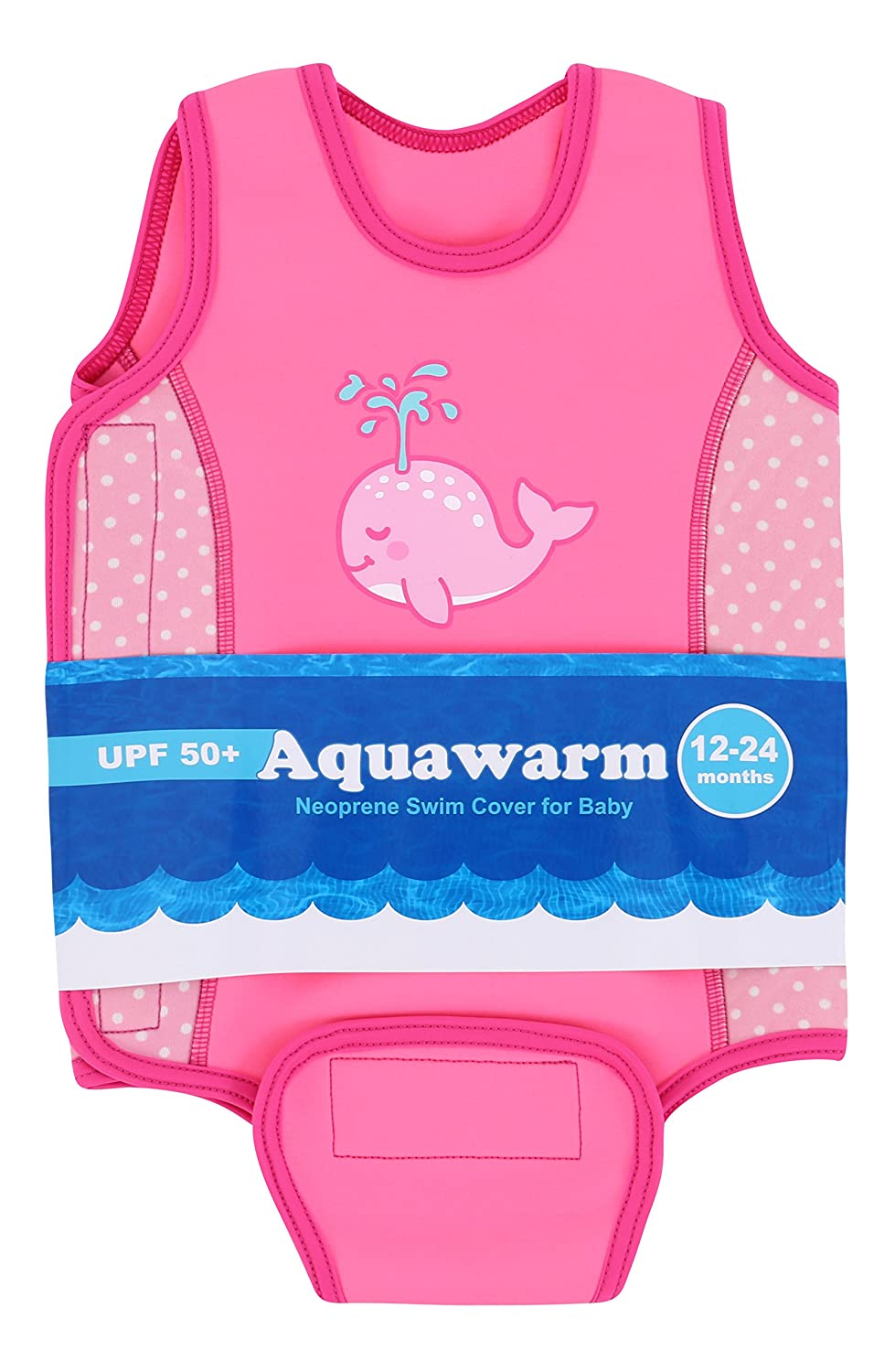 Infant/'s Safest Swimsuit Aquawarm Pink Neoprene Baby/'s Warm Wetsuit w//UV Protection