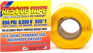 "Rescue Tape | Self-Fusing Silicone Tape | Emergency Pipe & Plumbing Repair | DIY Repairs | Seal Radiator Hose Leaks | Wrap Electrical Wires | Used by US Military | 1"" X 12' 
