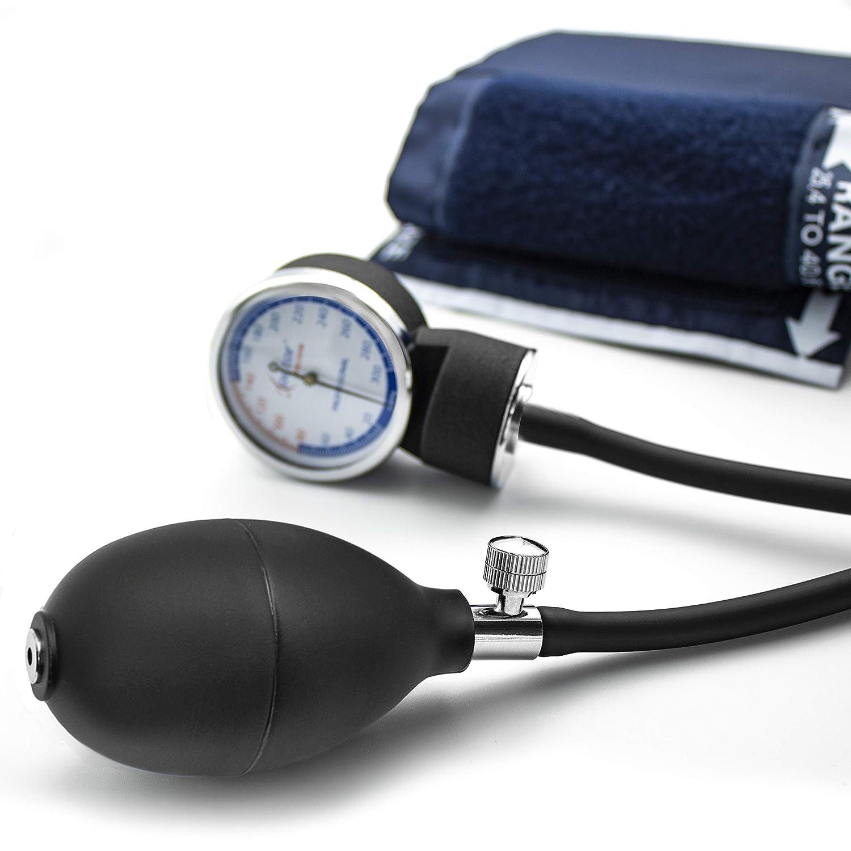 AIESI Esfigmomanometro Tensiómetro Manual Profesional Aneroide modelo clasico con brazalete de nylon para adultos DOCTOR PRECISION ✓ Medidor de presión ...